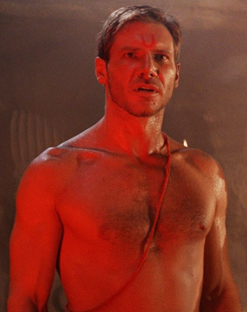 Harrison Ford as Indiana Jones in The Temple of Doom ...
