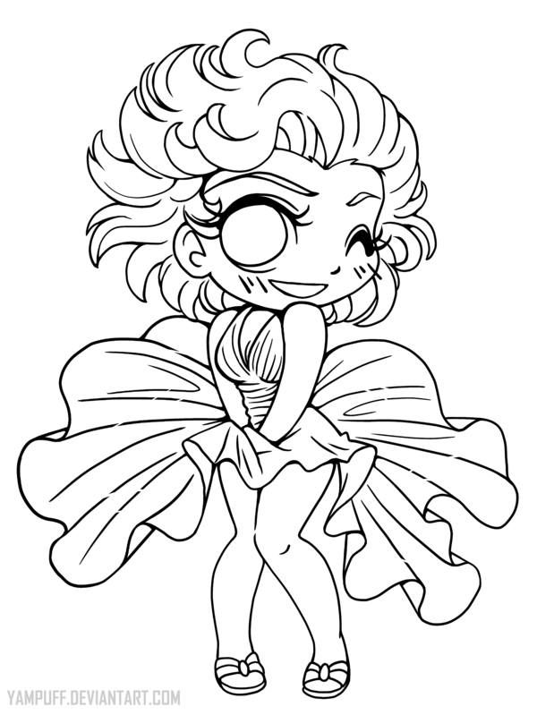 Yampuff Kleurplaat Marilyn Monroe 201 Pingl 233 Par Milly Sur Coloring Pages Fofos Pinterest