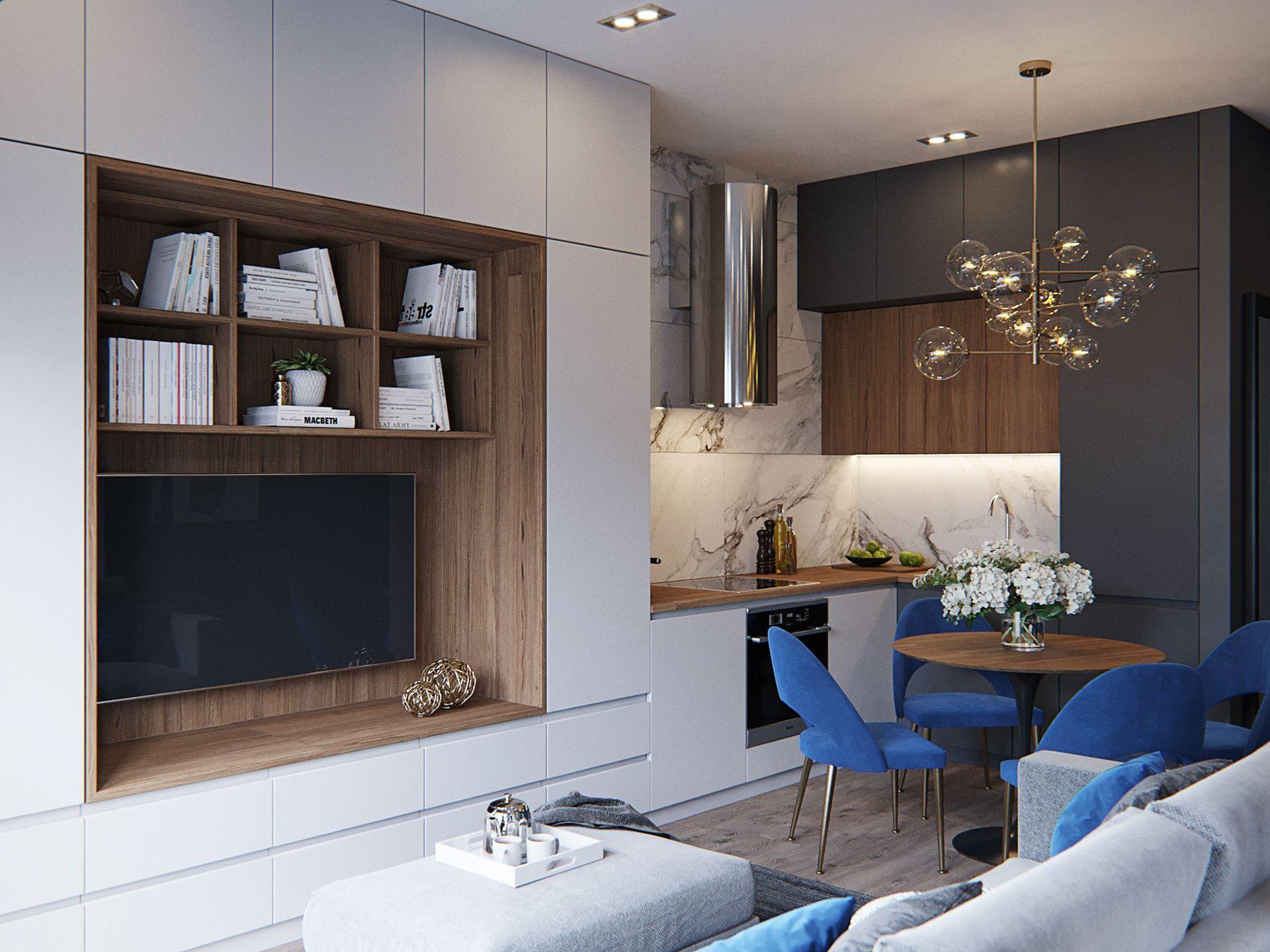 Small loft on Behance Small apartment interior, Small