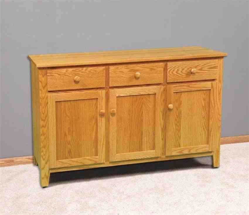 Oak Buffet Cabinet