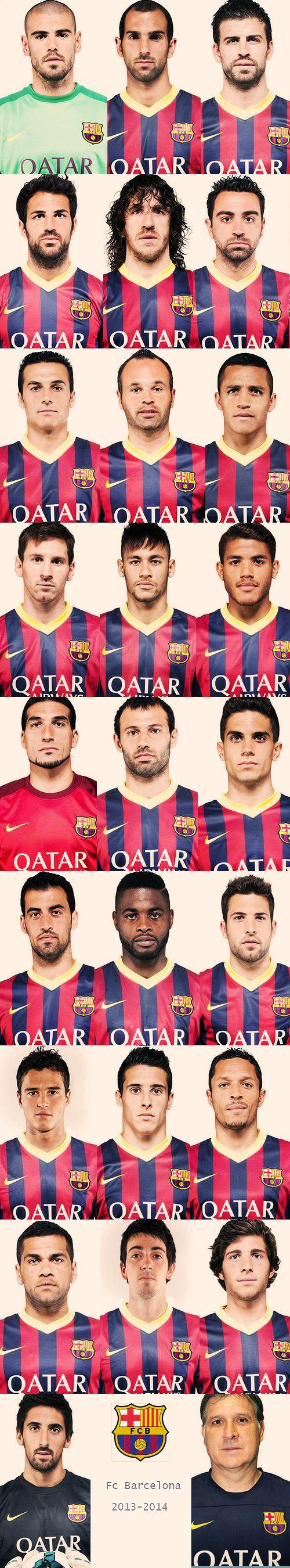 Barca team 2013/14 #fcbarcelona #barca literally best soccer line-up imaginable