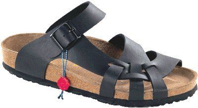 d1a0e8ffdfc8  56.19- 56.19 Birkenstock slippers Pisa from Birko-Flor in Black with a  regular insole