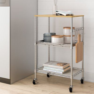 Dotted Line Ty 34 Kitchen Cart In