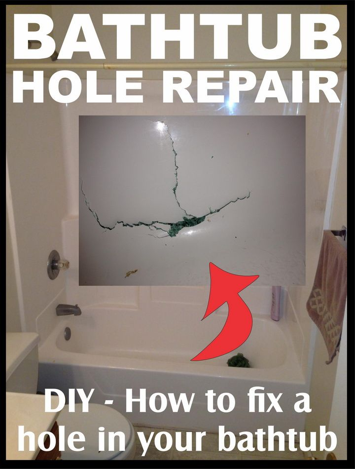 How To Fix A Hole In The Bathtub DIY | DIY - Tips Tricks Ideas ...