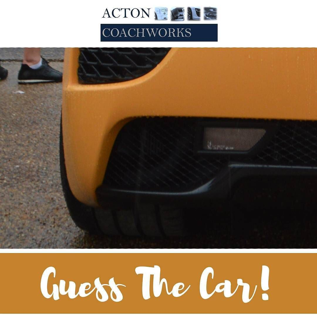 >>> CAR EXPERTS <<< Can you guess what car this is?????? Put your answers in the comments below _ _ _ _ _ _ _ _ _ _ _ _ _ _ _ _ _ _ _ _ _ _ _ _ _ _ _ _  #actoncoachworks Acton Coachworks is a supercar and prestige vehicle bodyshop in London.