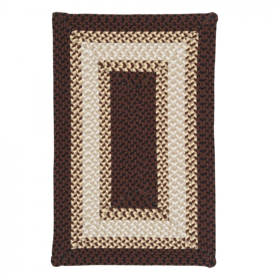 Colonial Mills Rhodes Chocolate Sundae Braided Rug Ro81