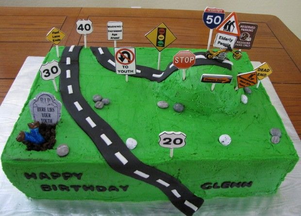 Over The Hill Birthday Cakes Cake decoration ideas Pinterest