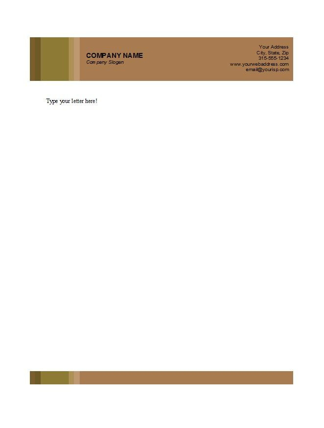 free letterhead templates amp examples company business personal - letterhead templates download