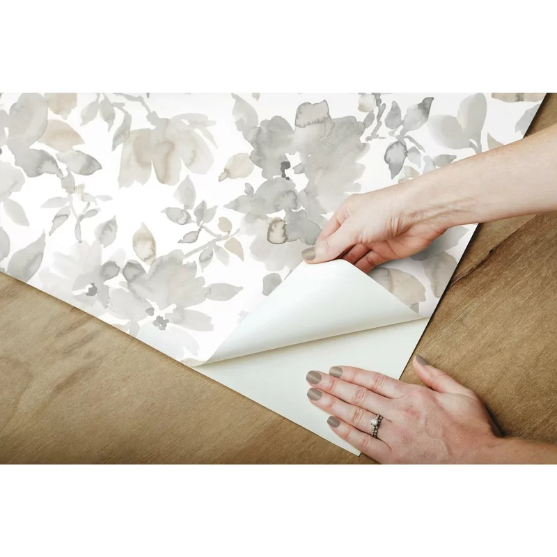 Cansler Floral Peel And Stick Wallpaper Roll Stick On Wallpaper Peel And Stick Wallpaper Wallpaper Roll