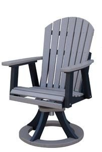 outdoor swivel rocker chair ergonomic desk and set up amish polywood elite comfo back dining