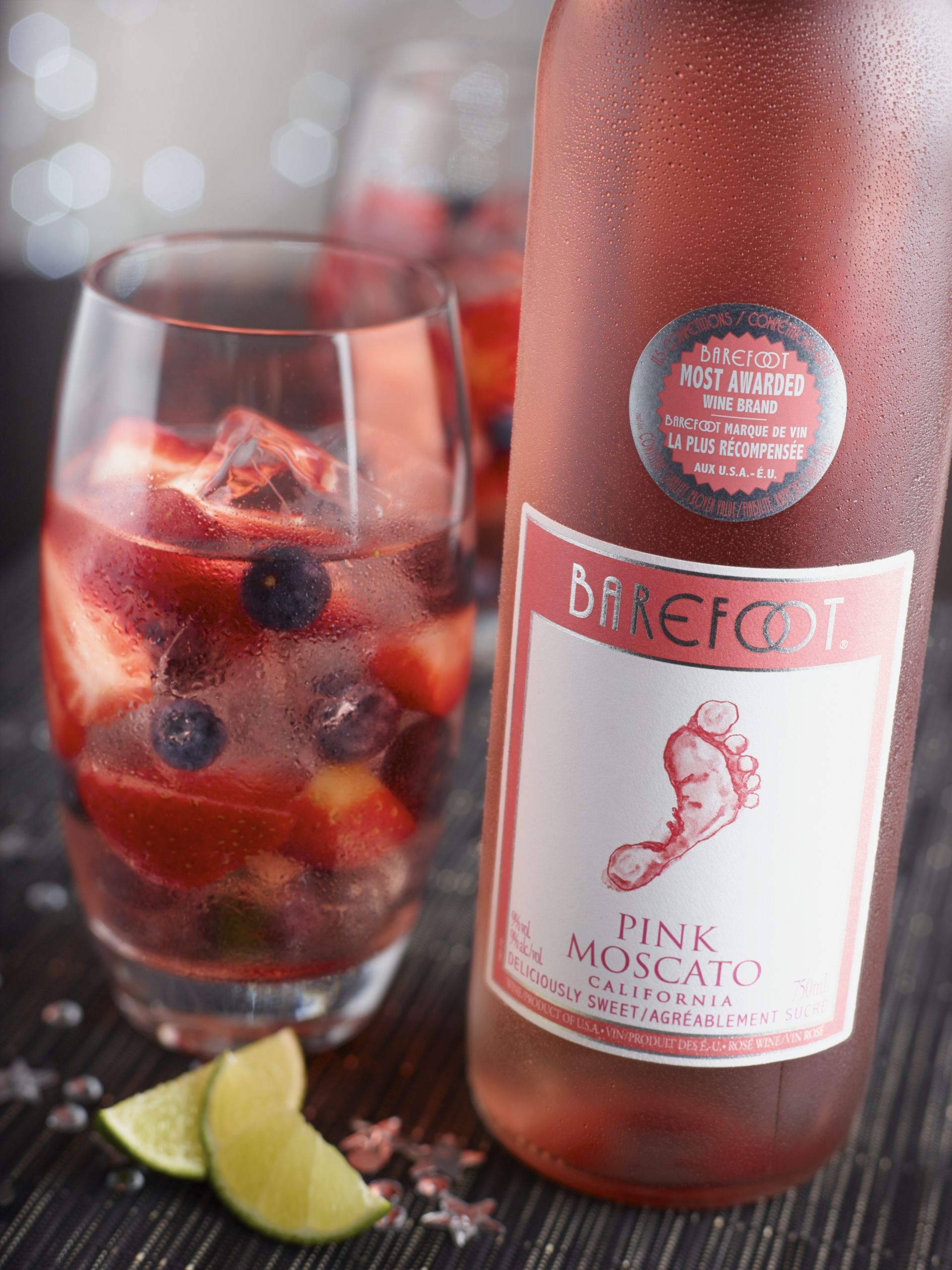 Pink Moscato Wine Drinks