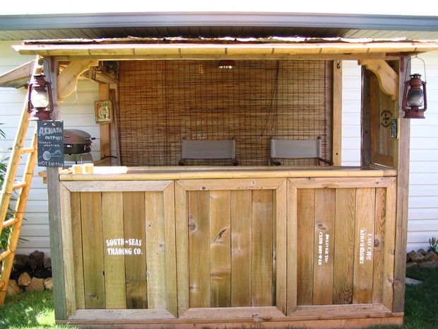How to Build an Outdoor Bar Building a themed tiki bar certainly