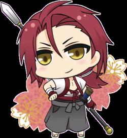 Harada in chibi form. -- Anime, Hakuouki, Shinsengumi Kitan ...