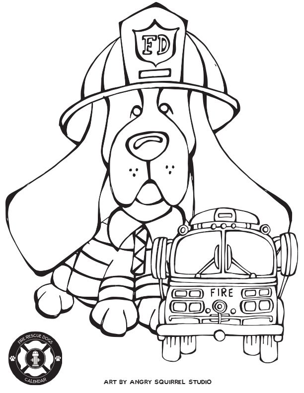 Free Coloring Pages: Fire Rescue Dogs http://www ...