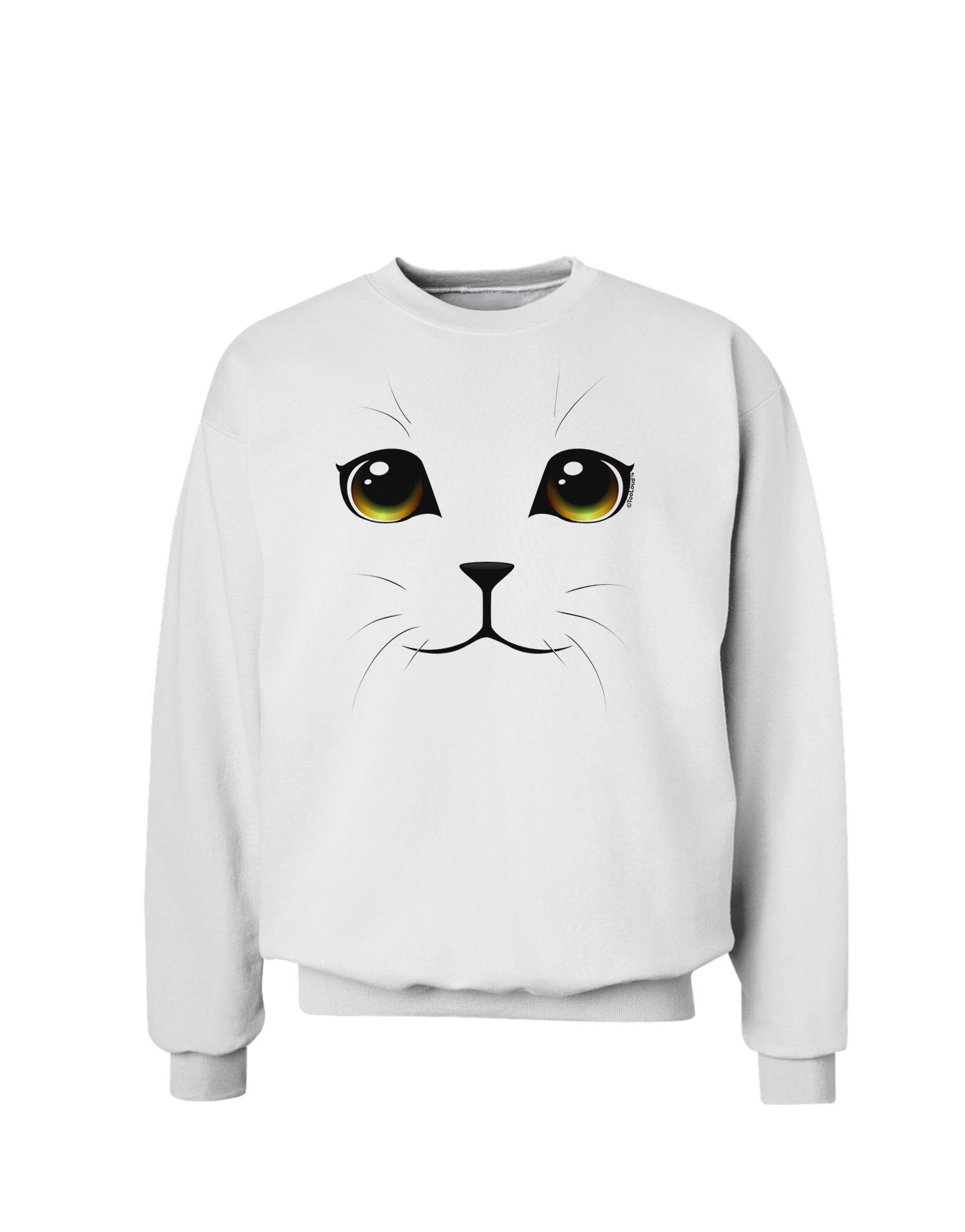 Yellow Amber Eyed Cute Cat Face Sweatshirt Cute Cat Face Cat Face Sweatshirts [ 1978 x 1550 Pixel ]
