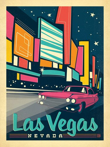 Poster Of The Week Las Vegas Nevada Say Hello To America Las Vegas Framed Poster Print Vintage Travel Posters