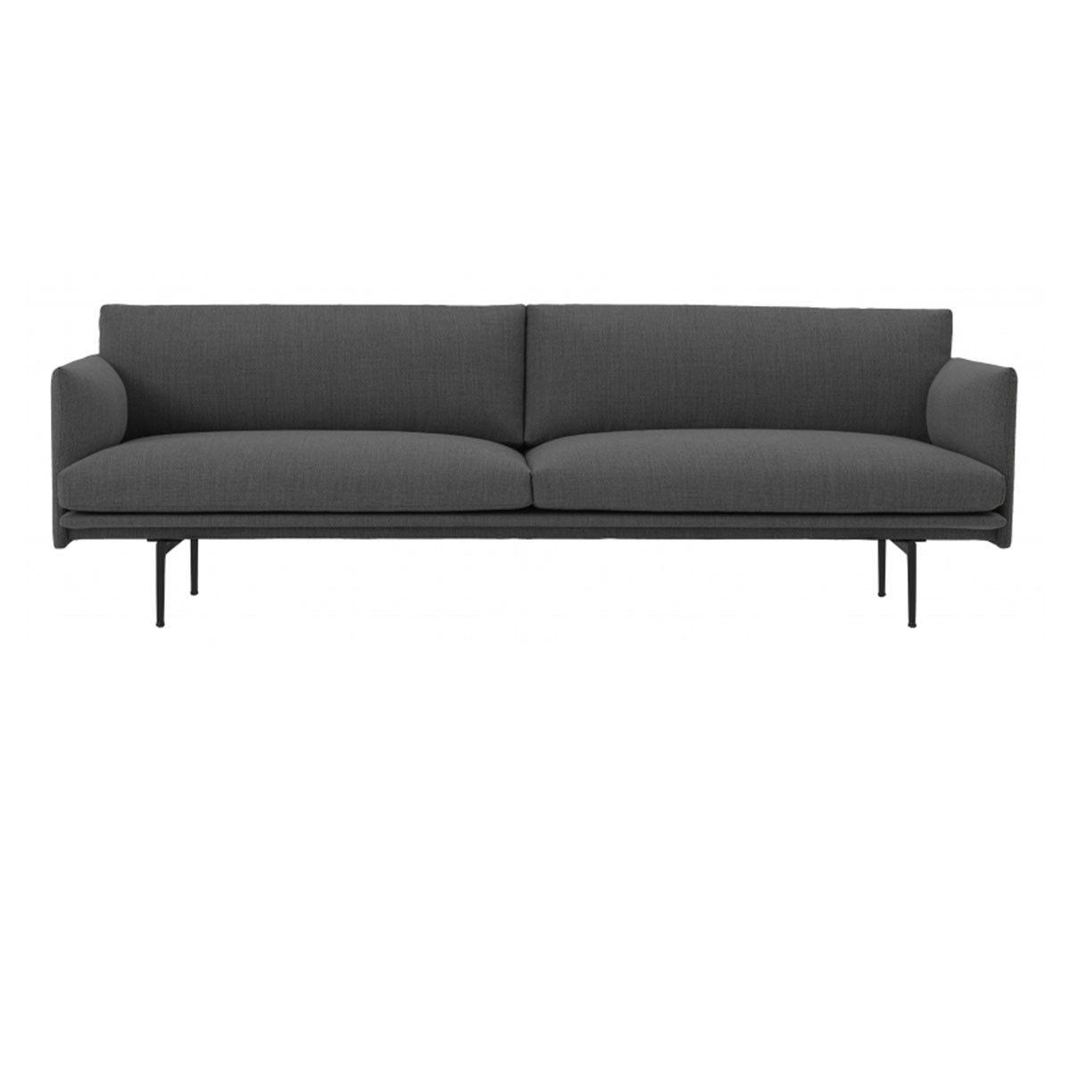 Canapé Outline 3 places Gris foncé - Remix 163 - Muuto - Véritable meuble d  46cc2fb69d68