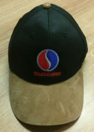 Studebaker Black Cotton Hat With Brown Suede Bill