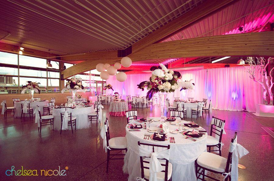 Hot Pink Reception At Gardens Terrace Springs Preserve Las Vegas Chelsea Nicole Photography