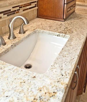 Rectangular Undermount Sink Bathroom Granite Countertop Granite