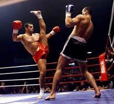 Andy Hug, kyokushin karate. Kakato otoshi geri