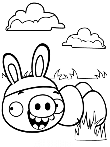 Minion Pig Stealing Easter Eggs Coloring Page Bird Coloring Pages Toy Story Coloring Pages Unicorn Coloring Pages