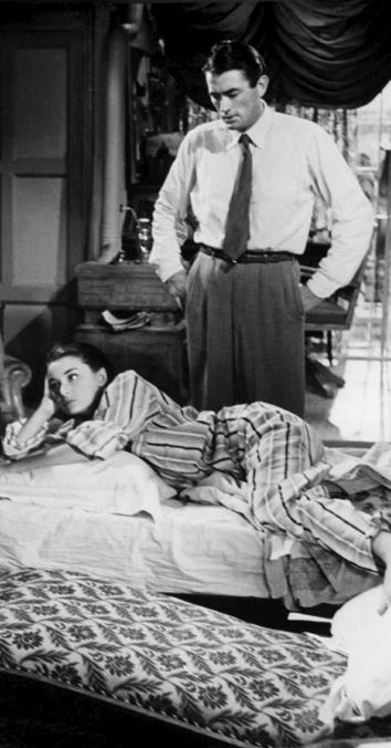Gregory Peck and Audrey Hepburn in 'Roman Holiday'