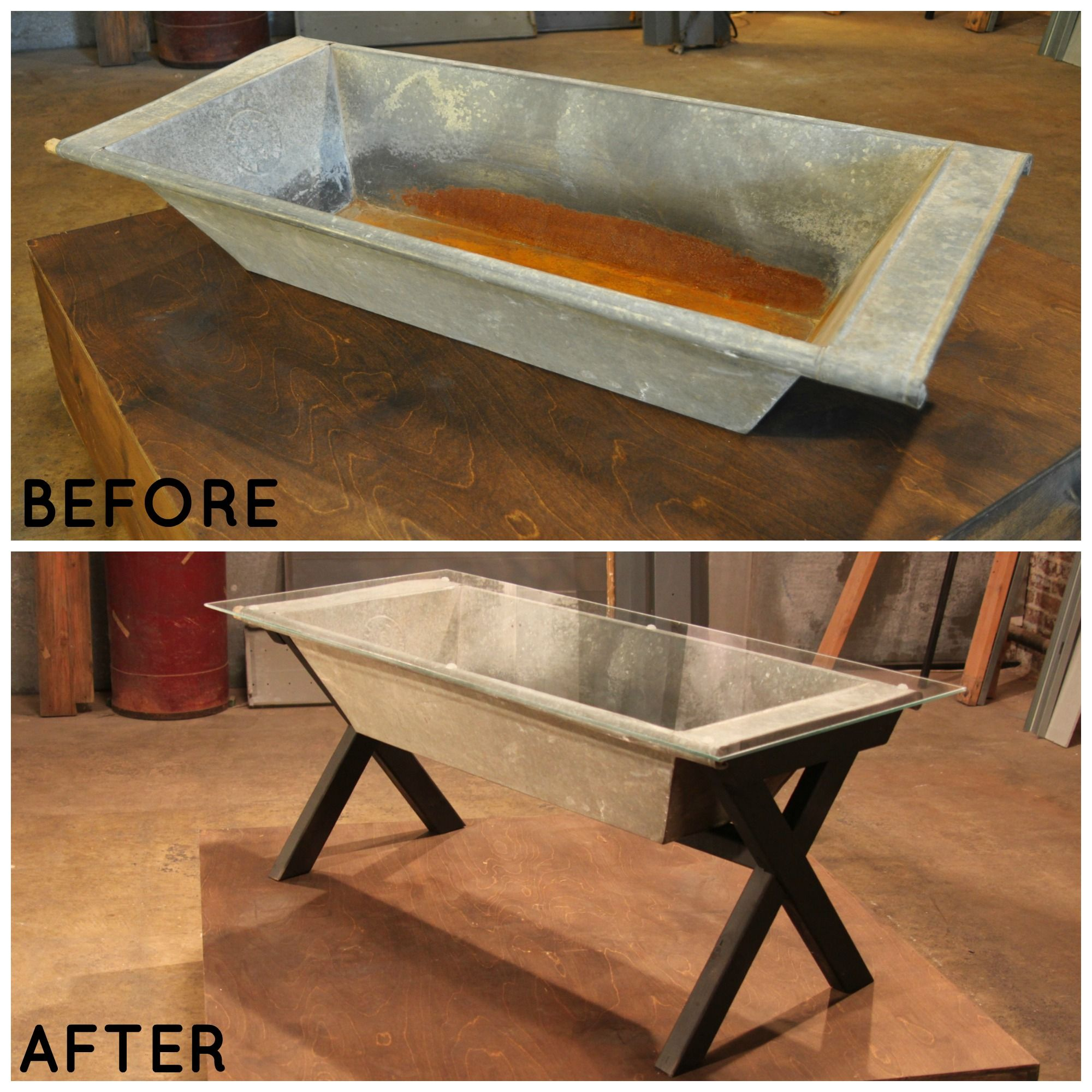 Barn Trough Becomes A Rustic Coffee Table >> Httpwwwgreatamericancountrycomphotorustic Buffet Table Soc=Pinterest