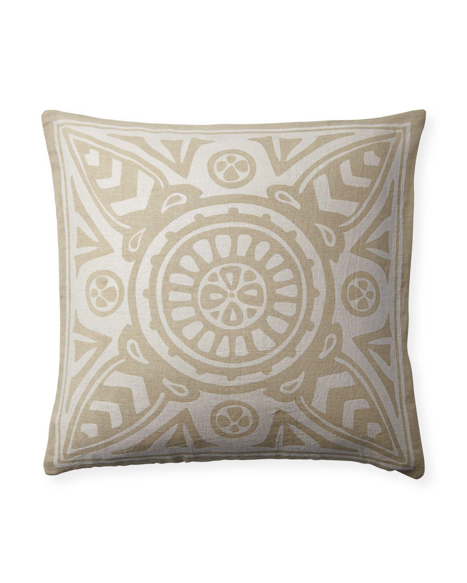 Azure Medallions Pillow | Gold pillows