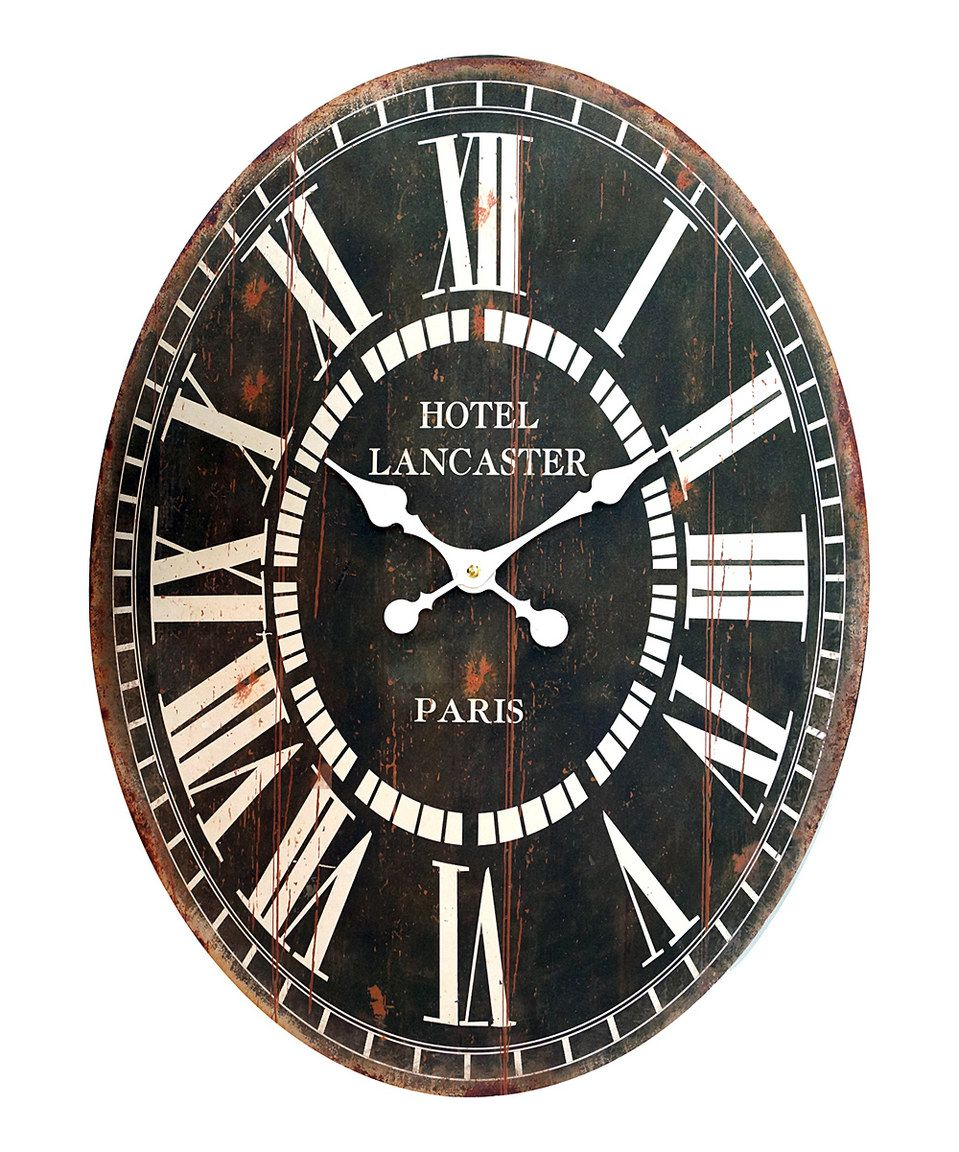 Another great find on #zulily! Oval Wall Clock by VIP International #zulilyfinds