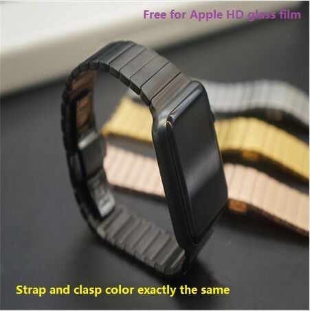 (Buy here: http://appdeal.ru/d2c ) Silver, Black, Gold, Rose Gold 316L Link Bracelet For Apple Watch Band 42mm stainless steel strap for apple watch original 1:1 for just US $35.98