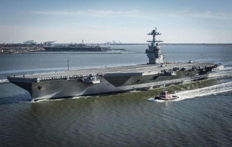 Photos Future Uss Gerald R Ford Supercarrier At Sea For First Time Navy Aircraft Carrier Ford Aircraft Carrier Us Navy Ships