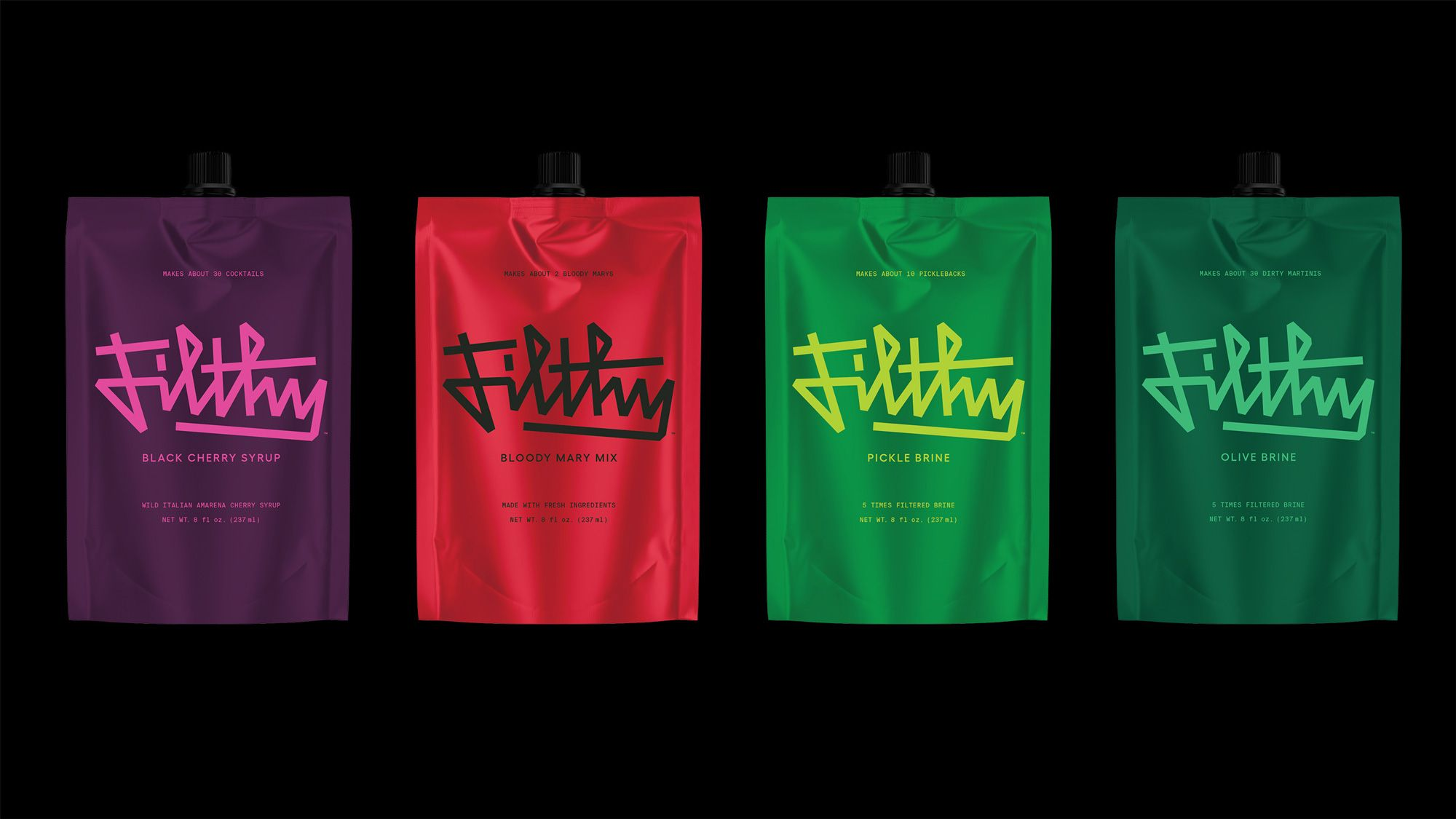 Brand New New Logo Identity And Packaging For Filthy Food By Mother Design In 2020 Identity Logo Gomez Palacio Motion Design