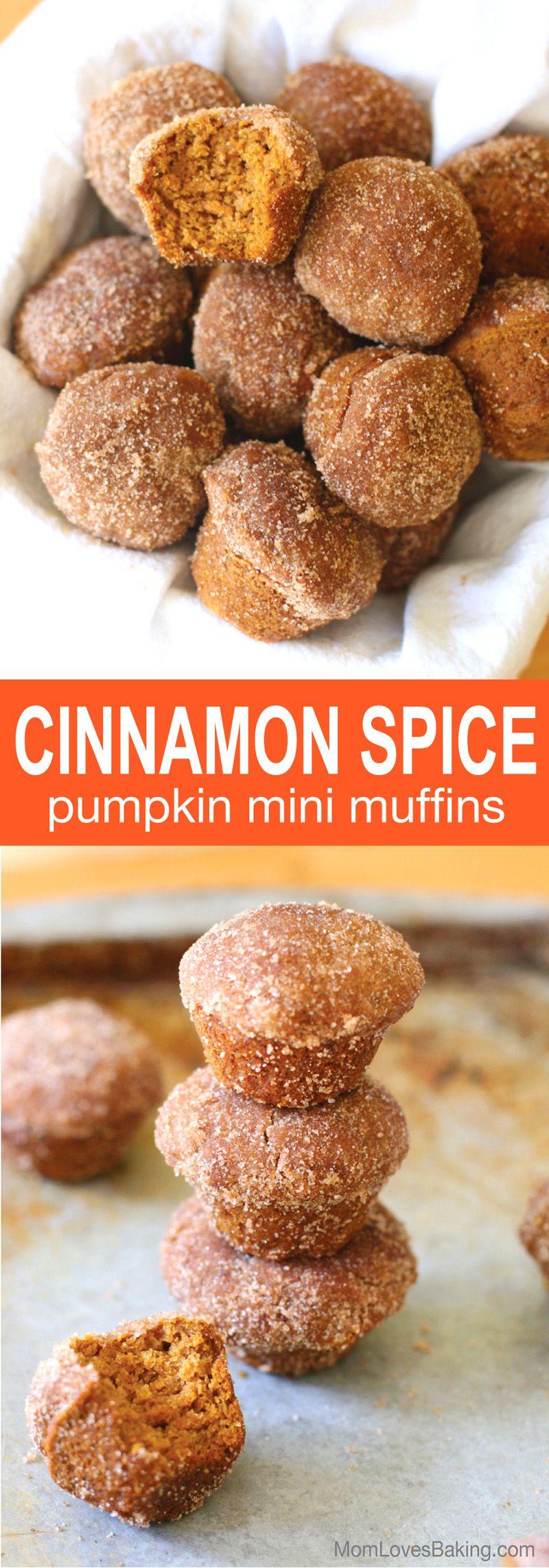 Cinnamon Spice Pumpkin Mini Muffins #pumpkinmuffins