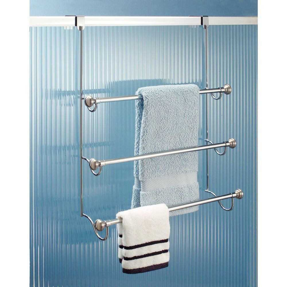 Over The Door Towel Rack Bathroom Bar Shelf Organizer Holder Hotel Toilet Storag Interdesign Towel Rack Towel Rack Bathroom Shower Doors