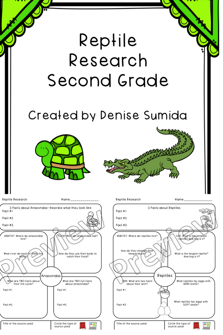 This Is A Great Note Taking Lesson To Teach About Reptiles Research Question Boxes Are Basic Facts Habitat Food Life Cyc Reptiles Second Grade Basic Facts [ 1102 x 735 Pixel ]