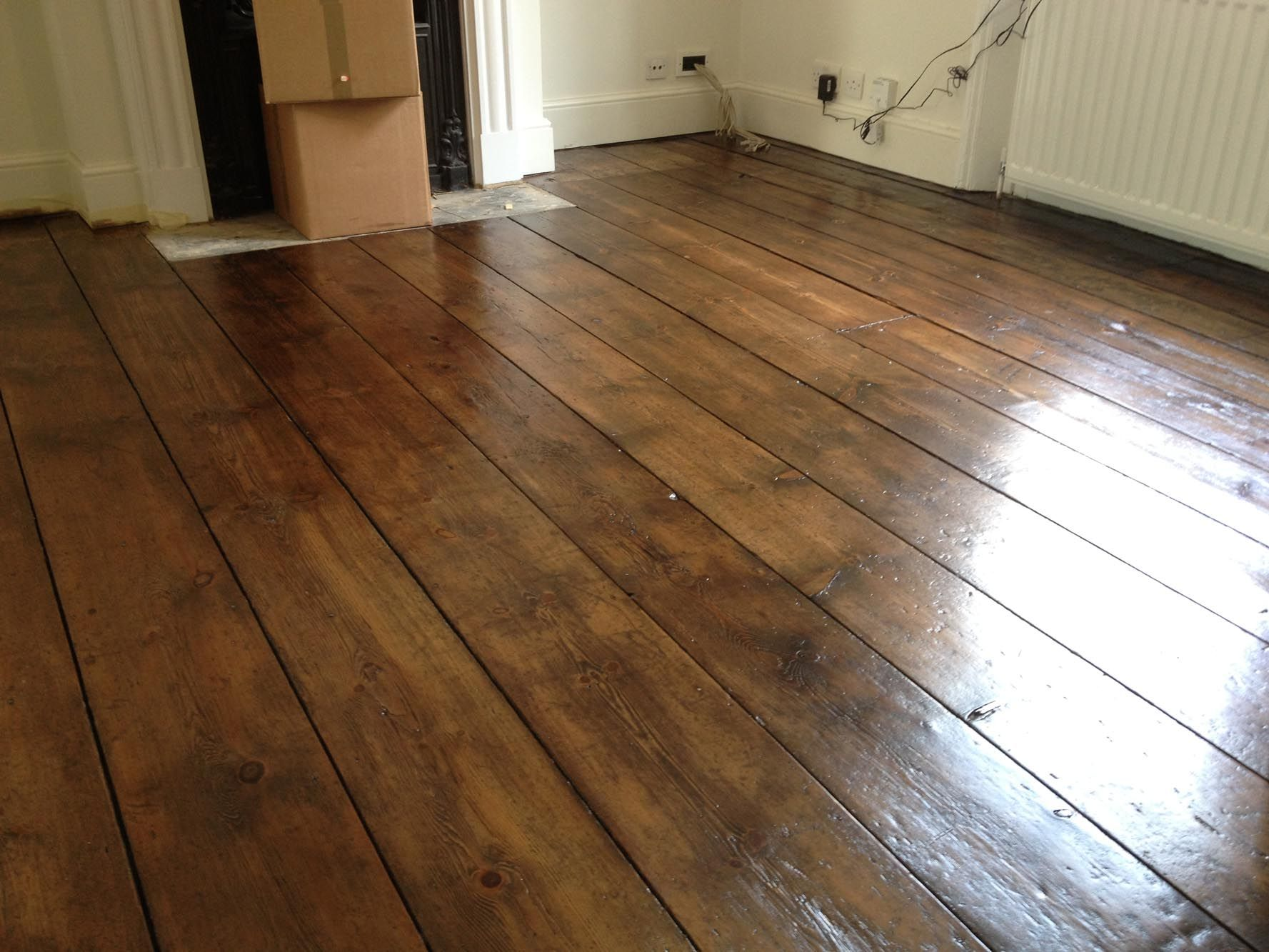 a restored pine floor (With images) Wooden