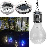 Wish | Waterproof Solar Rotatable Outdoor Garden Camping Hanging LED Light Lamp Bulb  Garden Decor