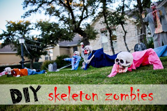 Yard Decorations For Skeleton Zombies Invade Your