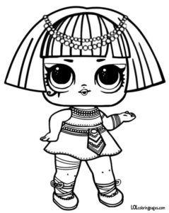 Pharaoh Series 3 L O L Surprise Doll Coloring Page Imprimir Desenhos Para Colorir Unicornio Para Colorir Folhas Para Colorir