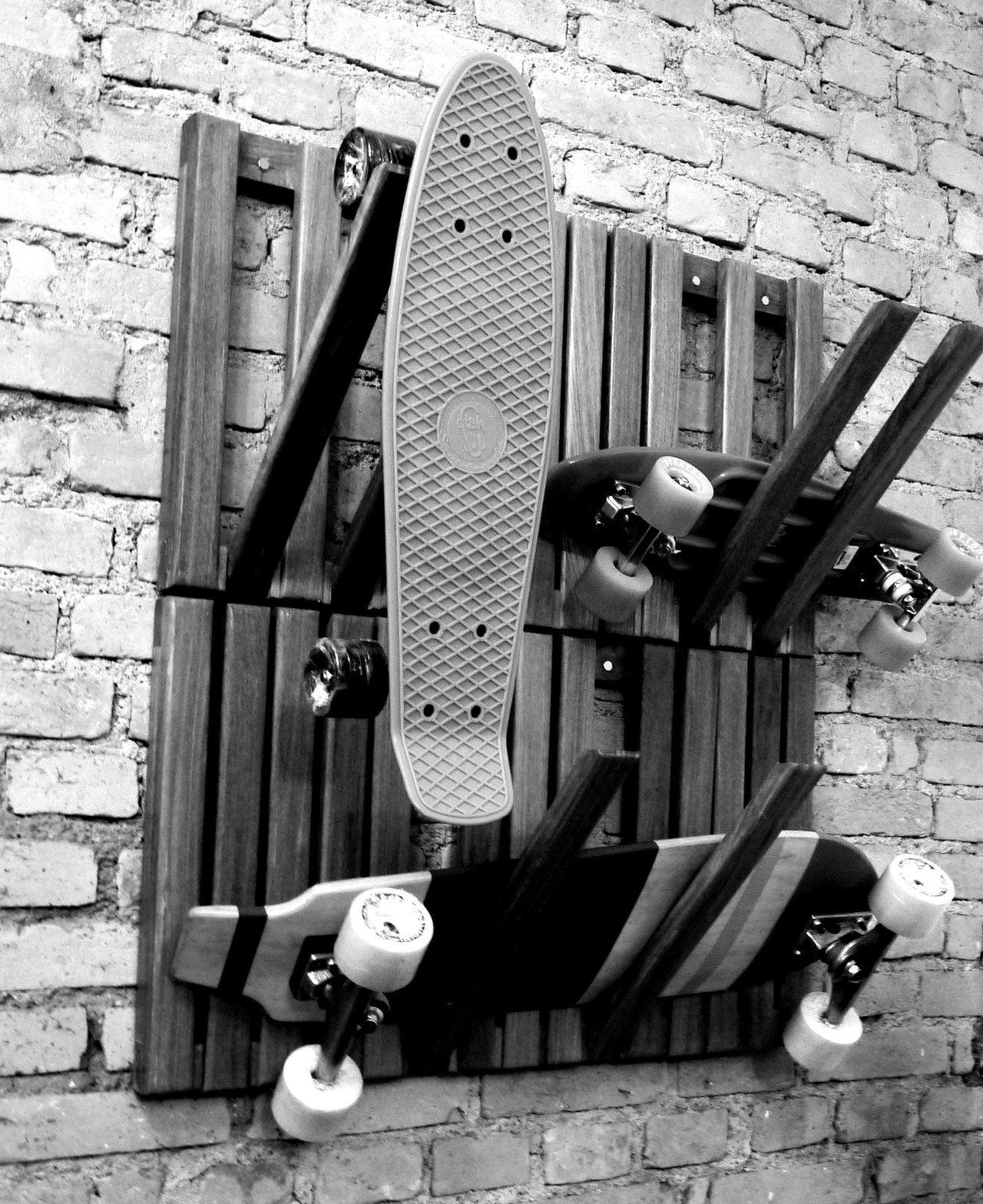 Diy Skateboard Design: Long Board Rack …