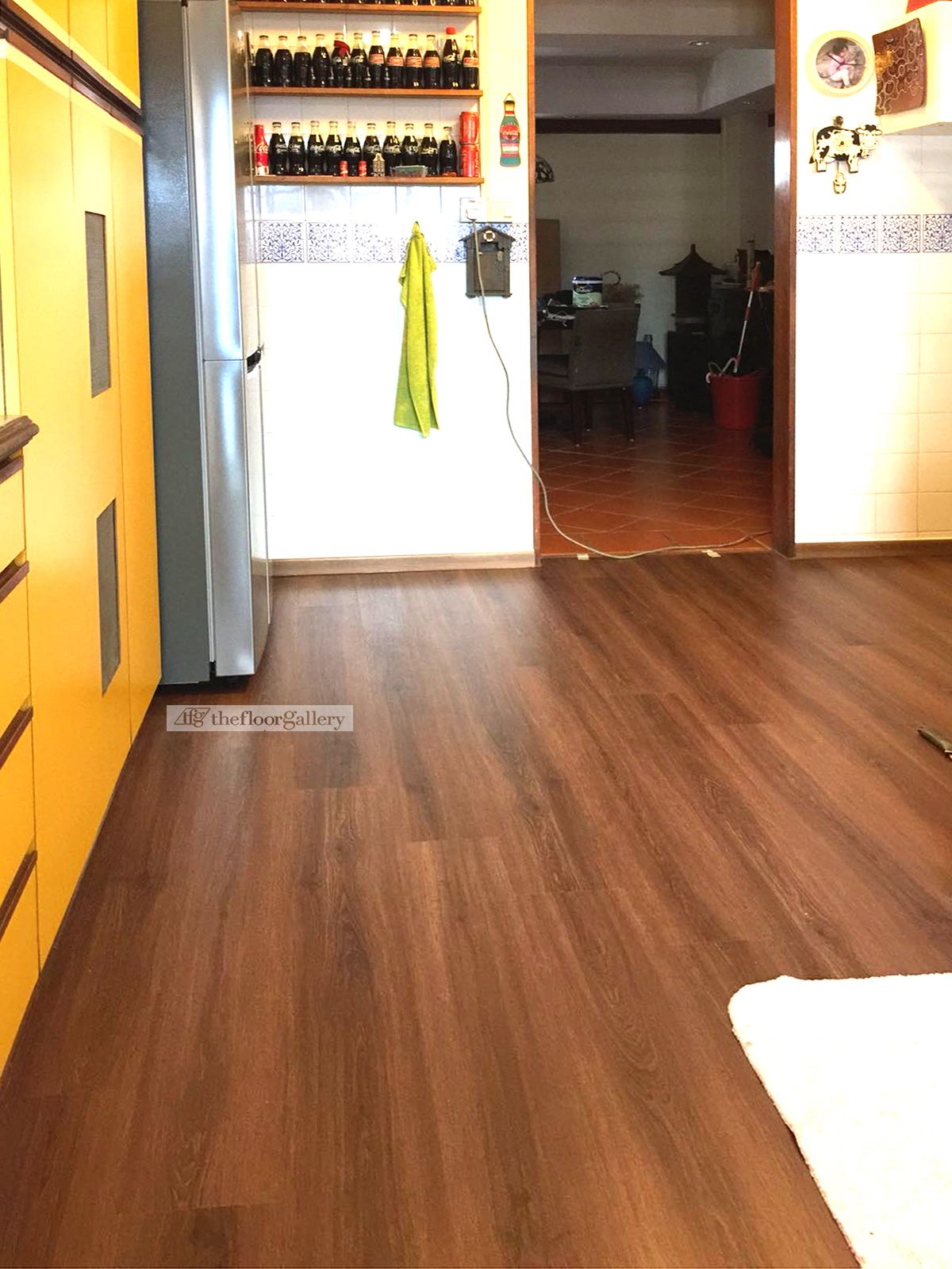 Prefer dark colour flooring for your kitchen? We have that