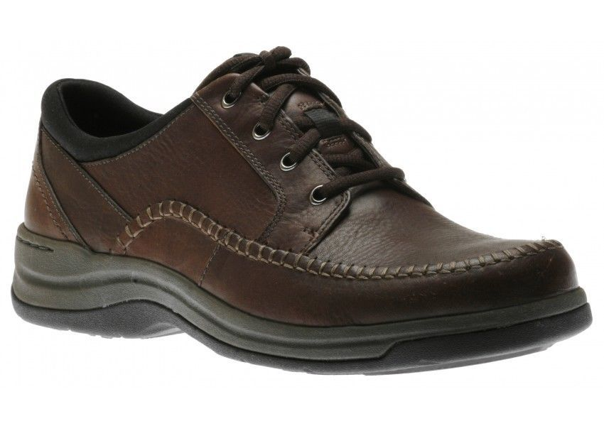 df1d03e71fca CLARKS PORTLAND 2 TIE Brown Leather MENS 66038 Oxford NEW  Clarks   CasualComfort