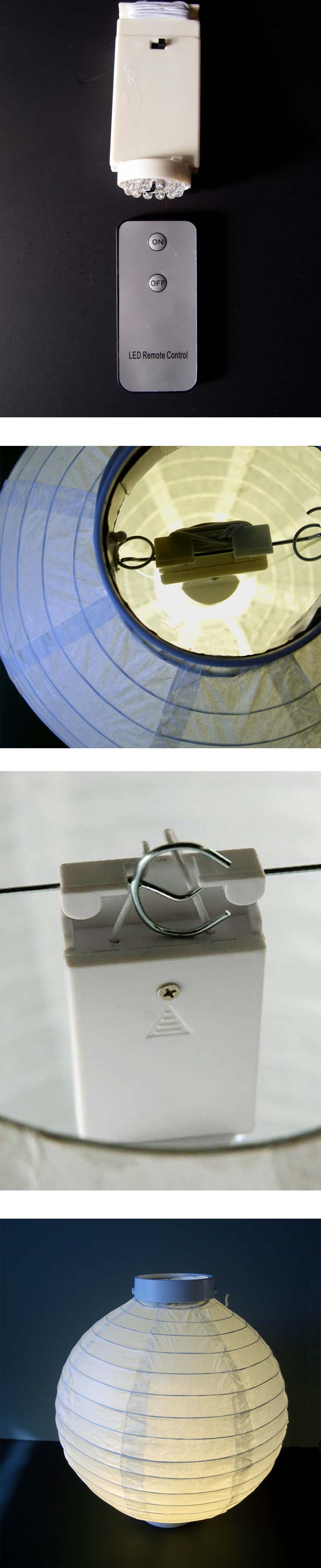 Battery Operated Paper Lantern Lights- Optional Remote