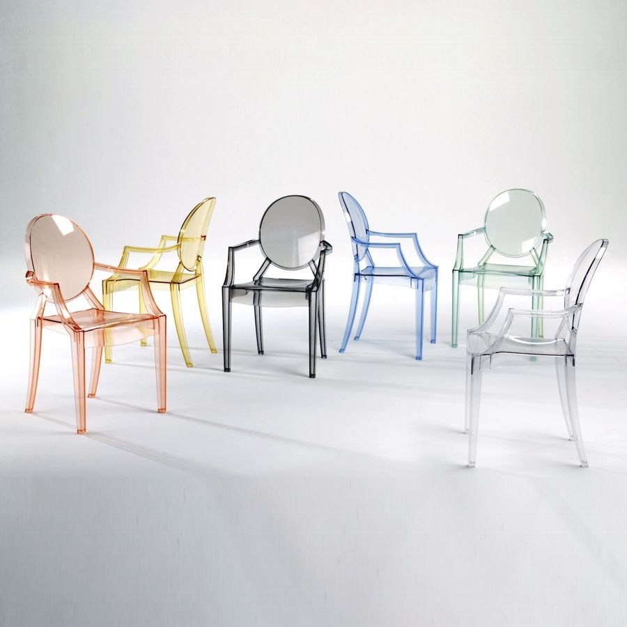 Ghost Chair Designed By Philippe Starck , Sold By Kartell. Source: Love  These Chairs By Kartell! Would Love To Have One Of Each Color Around A  Rustic Wooden ...