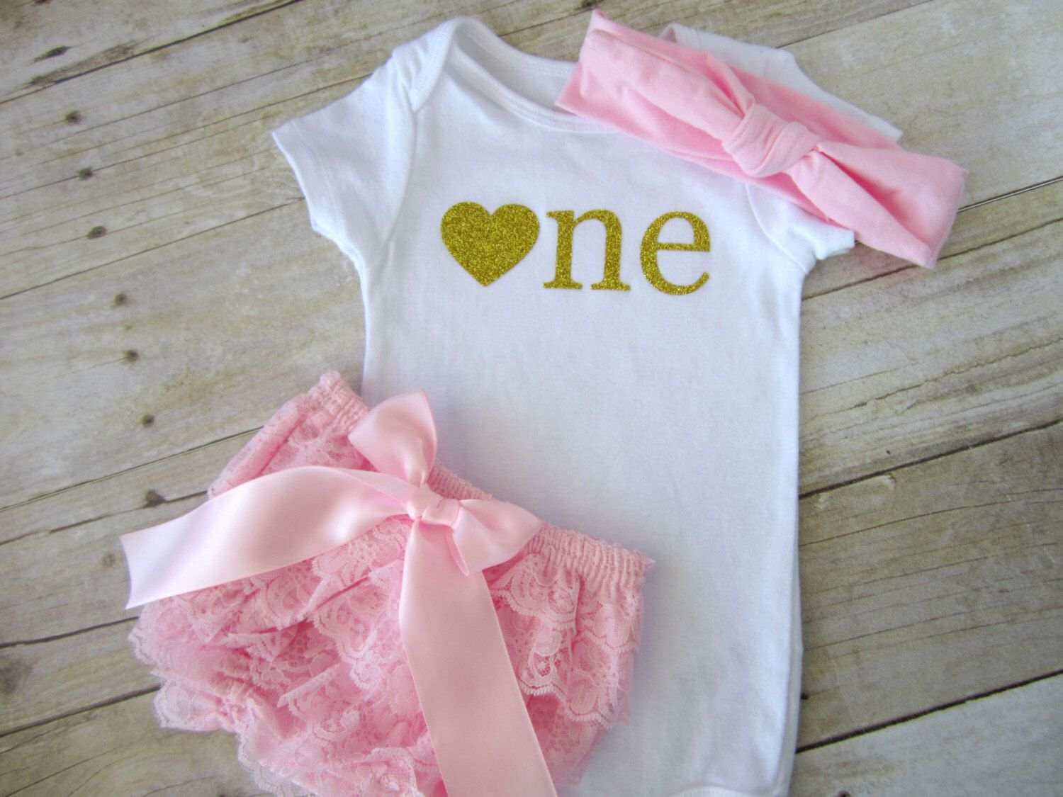 Pink and Gold First Birthday Girl Outfit..Gold Glitter Bodysuit...First Birthday Girl...Baby Girl 1st Birthday...Cake Smash Set...Smash Cake by SweetChubbyCheeks on Etsy https://www.etsy.com/listing/241542725/pink-and-gold-first-birthday-girl