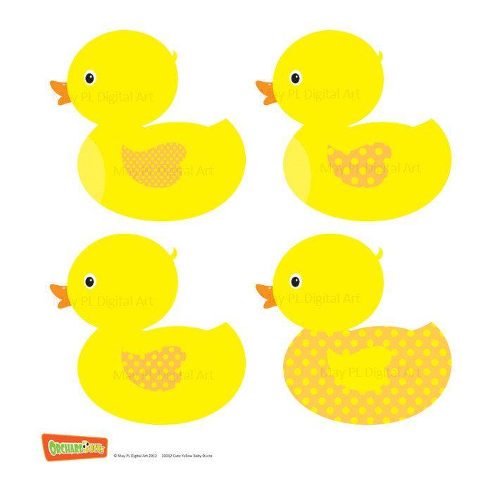 Rubber Duck Clip Art Ducky Duckie Baby Shower Yellow Baby Duck ...