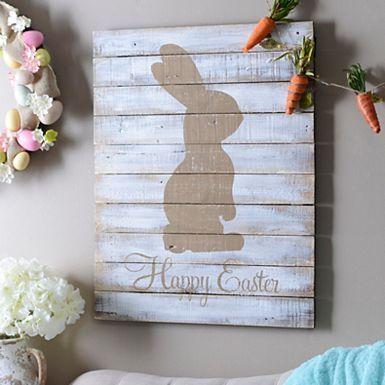 Pastel Happy Easter Wood Wall Plaque | Kirklands