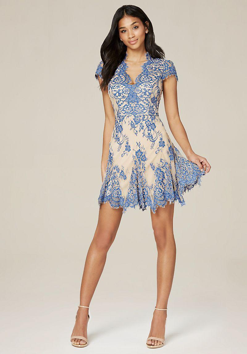 Valorie Lace Godet Dress Fashion Pinterest Dresses And Kemeja Lavender Contrast Multicolor Shop At Velvet