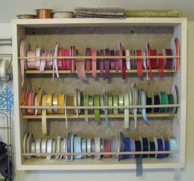 Ribbon Holder Craft Room Organization Things To Sell Room